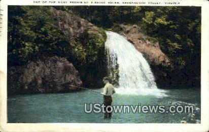 Fishing Hole  - Shenandoah Valley, Virginia VA Postcard