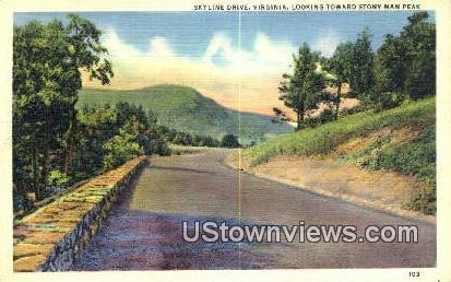 Skyline Drive, Virginia, VA, Postcard