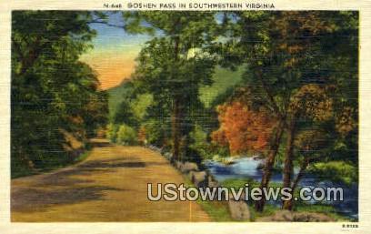 Goshen Pass, Virginia, VA, Postcard