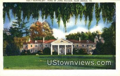 Montpelier  - Orange, Virginia VA Postcard