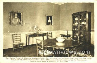 The Dining Room At Kenmore  - Fredericksburg, Virginia VA Postcard