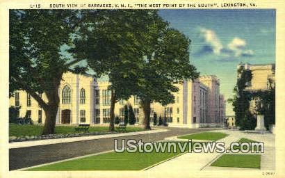 South View Of Barracks  - Lexington, Virginia VA Postcard