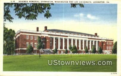 Dormers Memorial Gym  - Lexington, Virginia VA Postcard
