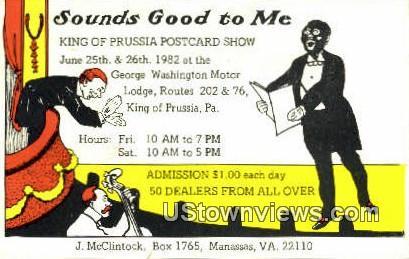 King Of Prussia Postcard Show  - Manassas, Virginia VA
