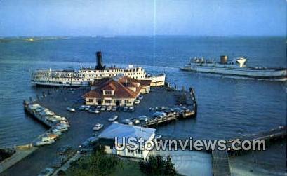 Old Point Comfort Warf  - Fort Monroe, Virginia VA Postcard