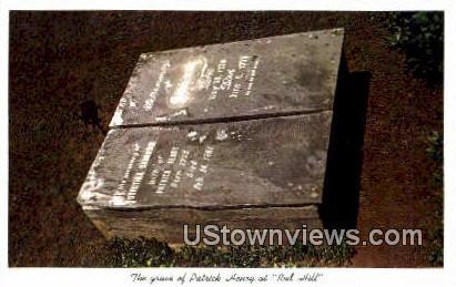 The Grave Of Patrick Henry  - Red Hill, Virginia VA Postcard