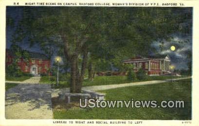 Campus Radford College  - Virginia VA Postcard