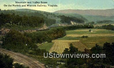 Mountain And Valley Scene  - Norfolk, Virginia VA Postcard