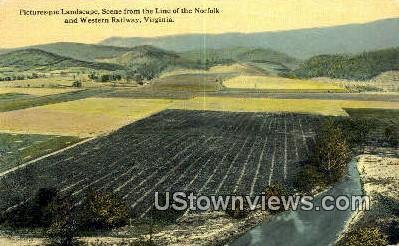 Landscape Scene  - Western Railway, Virginia VA Postcard