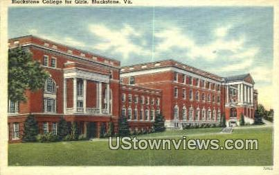 Blackstone College For Girls - Virginia VA Postcard