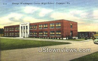 George Washington Carver High School - Culpeper, Virginia VA Postcard