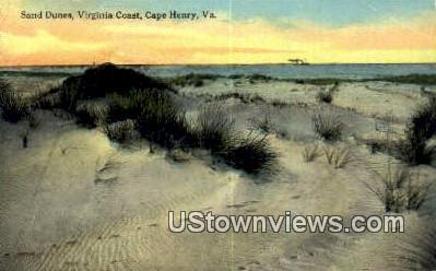 Sand Dunes  - Cape Henry, Virginia VA Postcard