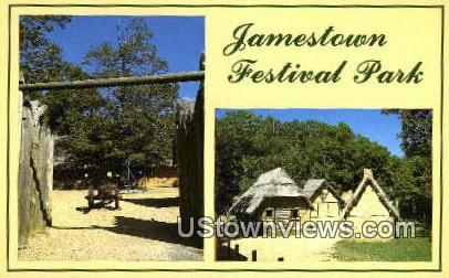 Jamestown Festival Park - Virginia VA Postcard