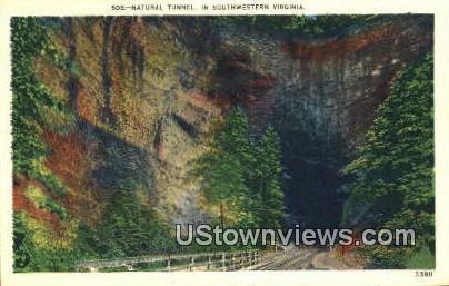 Natural Tunnel  - Southwestern, Virginia VA Postcard