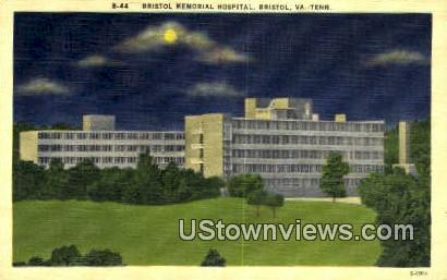 Bristol Memorial Hospital  - Virginia VA Postcard