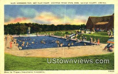 Swimming Poll And Club House  - Halifax County, Virginia VA Postcard