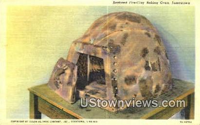 Restored Fire Clay Baking Oven - Jamestown, Virginia VA Postcard