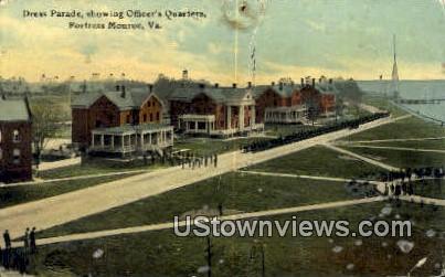 Dress Parade  - Fortress Monroe, Virginia VA Postcard