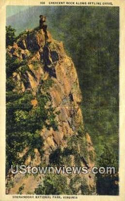 Crescent Rock Cliff  - Shenandoah National Park, Virginia VA Postcard