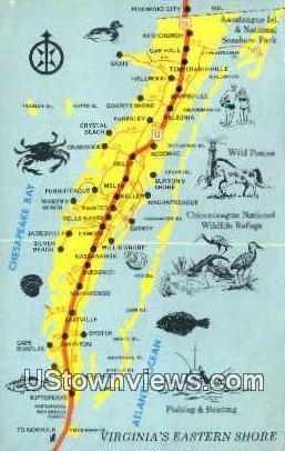 Virginias Eastern Shore - Misc Postcard