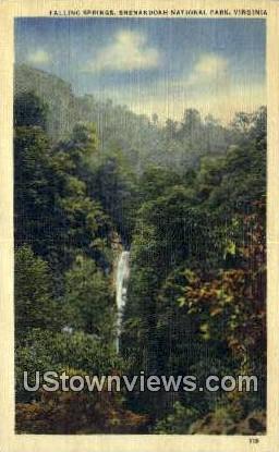 Falling Springs  - Shenandoah National Park, Virginia VA Postcard