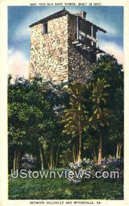The Old Shot Tower  - Hillsville, Virginia VA Postcard
