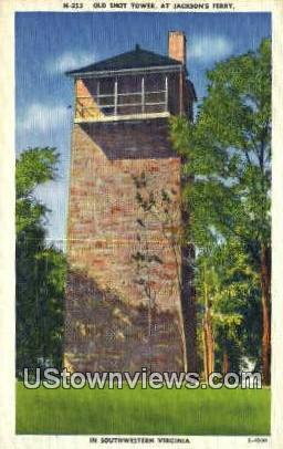 Old Shot Tower  - Hillsville, Virginia VA Postcard