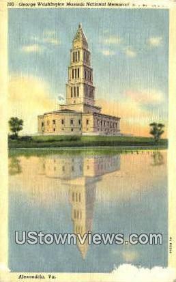 Washington Masonic National Memorial  - Alexandria, Virginia VA Postcard