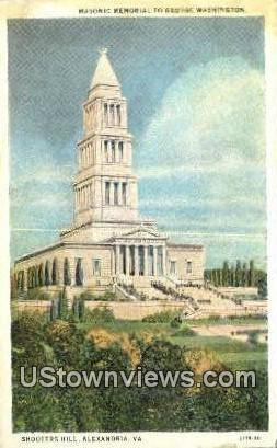 Masonic Memorial George Washington  - Alexandria, Virginia VA Postcard