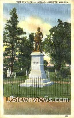 Tomb Of Stonewall Jackson  - Lexington, Virginia VA Postcard
