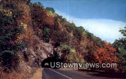 Famous Tunnel  - Skyline Drive, Virginia VA Postcard
