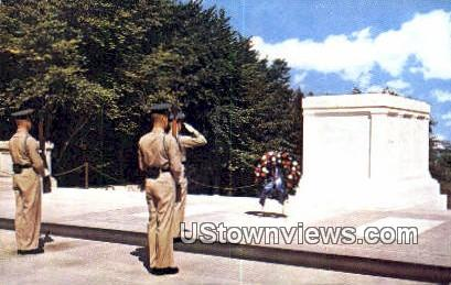 Tomb Of The Unknowns  - Arlington, Virginia VA Postcard
