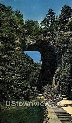 Natural Bridge  - Shenandoah National Park, Virginia VA Postcard