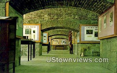 Interior Of Casemate Museum - Fort Monroe, Virginia VA Postcard