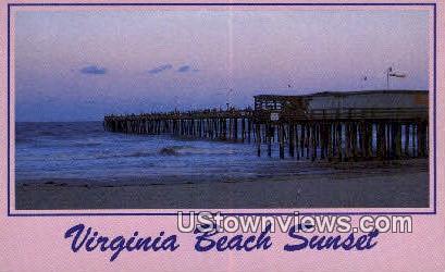 Virginia Beach Sunset - Virginia Beach Postcards Postcard