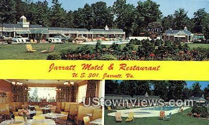 Jarratt Motel And Restaurant  - Virginia VA Postcard