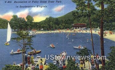 Recreation  - Fairy Stone State Park, Virginia VA Postcard
