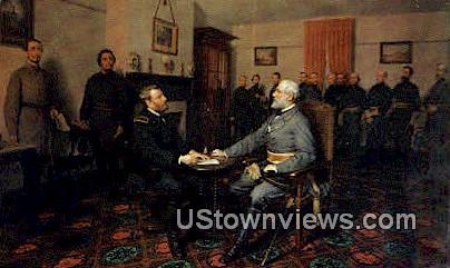 The Surrender Of General Grant  - Appomattox, Virginia VA Postcard