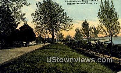 Breakwater And Hampton Roads  - National Soldiers Home, Virginia VA Postcard