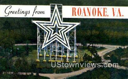 Greetings From  - Roanoke, Virginia VA Postcard