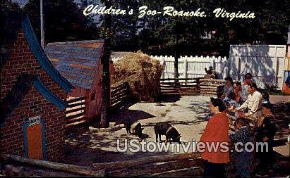 Children'S Zoo - Roanoke, Virginia VA Postcard