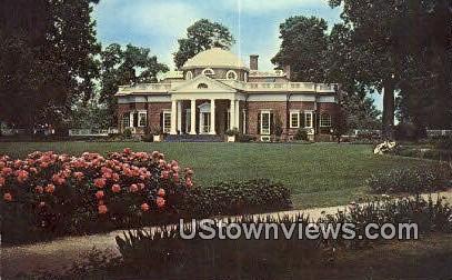 Monticello Home Of Thomas Jefferson  - Charlottesville, Virginia VA Postcard