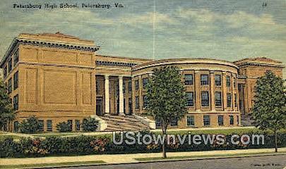 Petersburg High School  - Virginia VA Postcard