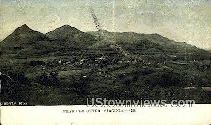 Peaks  - Peaks of Otter, Virginia VA Postcard