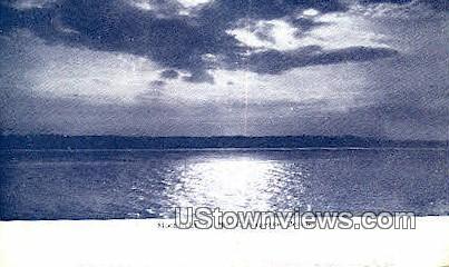 Moonlight On Chesapeake Beach  - Chesapeake Bay, Virginia VA Postcard