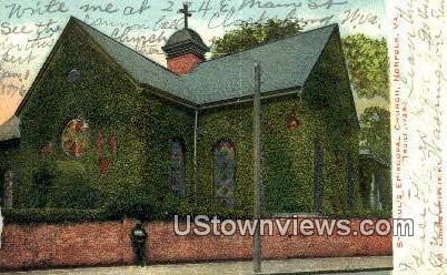 St Pauls Episcopal  Church  - Norfolk, Virginia VA Postcard