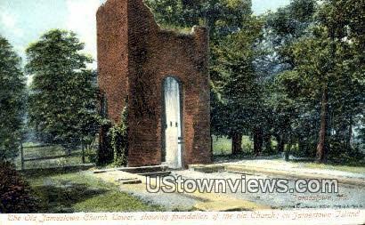 Old Jamestown Church Tower  - Jamestown Island, Virginia VA Postcard