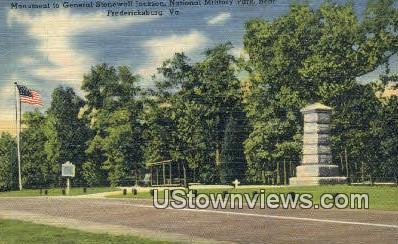 Monument General Stonewall Jackson  - Fredericksburg, Virginia VA Postcard