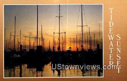 Tidewater Sunset  - Chesapeake Bay, Virginia VA Postcard