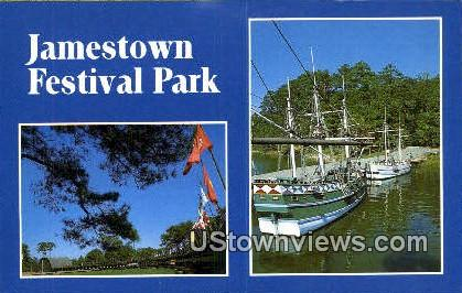 Festival Park  - Jamestown, Virginia VA Postcard